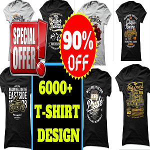 6000+New T-shirt Design Mega Bundle Cheap Price