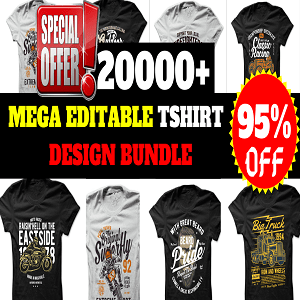 20000+T-shirt Design Mega Bundle Cheap Price