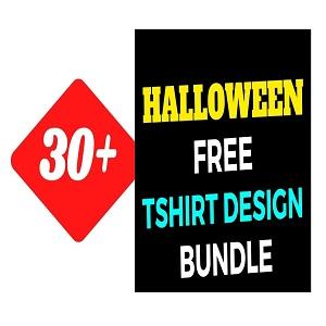 30+Halloween T-shirt Design Bundle Free Download