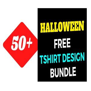 50+Halloween T-shirt Design Bundle Free Download
