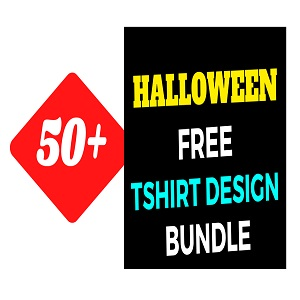 50+Halloween T-shirt Design Bundle Free Download