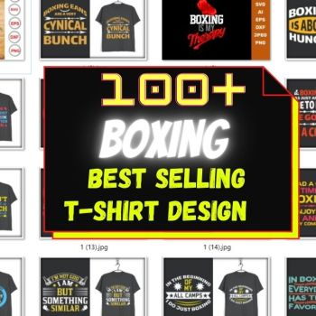 100+ NEW BOXING-WORKOUT TSHIRT DESIGN MEGA BUNDLE CHEAP PRICE