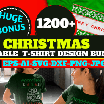 1200+ Christmas Editable New T shirt Design Bundle Cheap Price