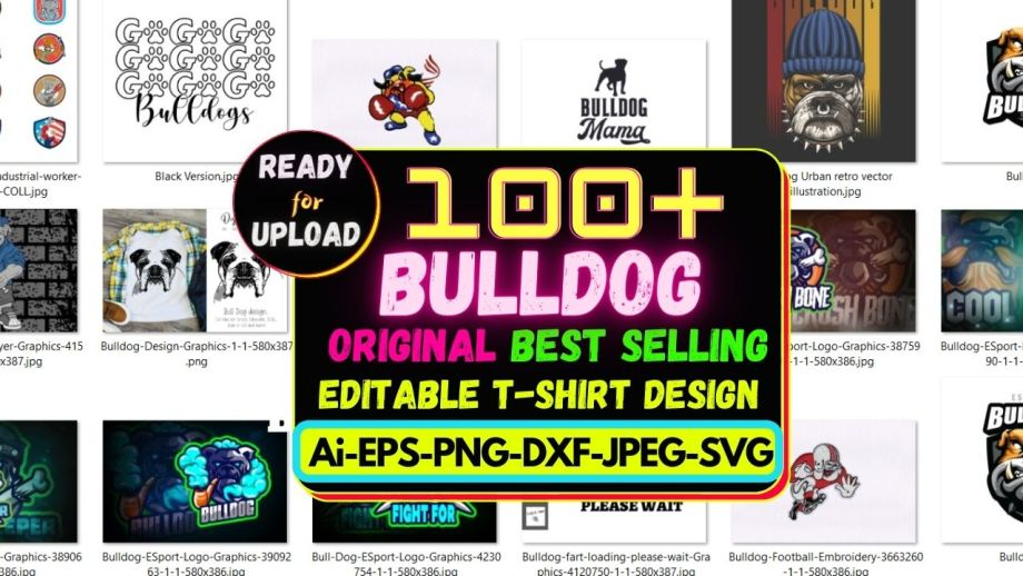 100+ Bulldog Best Selling T-shirt Design Bundle 2021 Cheap Price