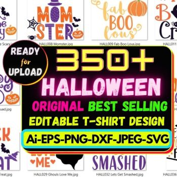 350+Halloween Best Selling T-shirt Design Bundle Cheap Price