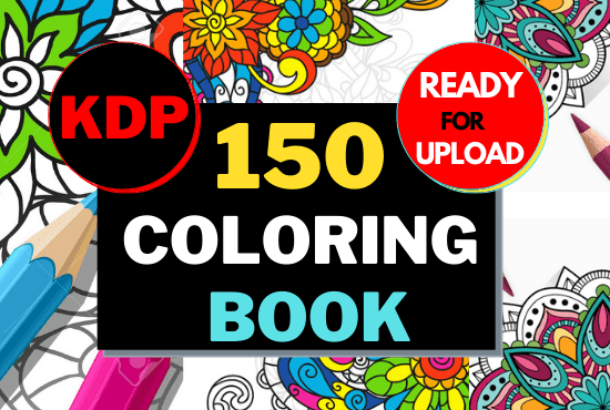 High converting 150 coloring book ready for upload