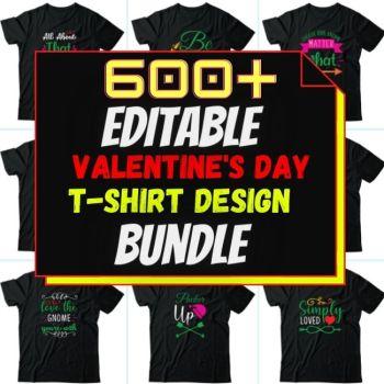 600+Valentines day Best Selling T-shirt Design Bundle
