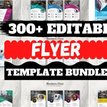 300+Editable Flyer Template Design Cheap Price 2021