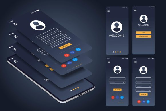 300+Ready App User Interface Wireframe For Mobile Ui & UX Design