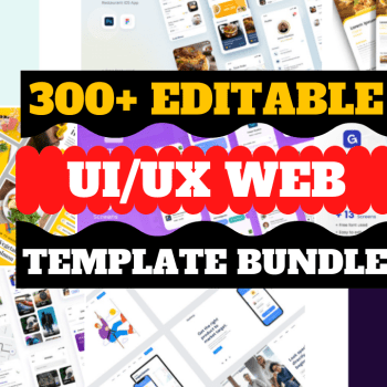 300+Editable UI UX Wireframe Ready Design Template For Website Cheap Price