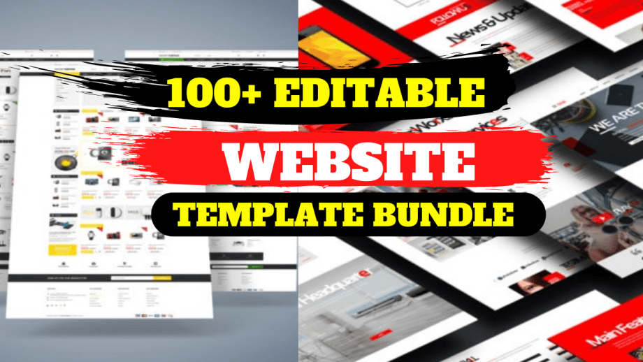 100+ Website Templates Bundle from apparel Cheap price