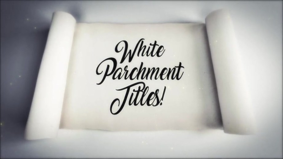 Best White Scroll Titles Video Template Cheap Price