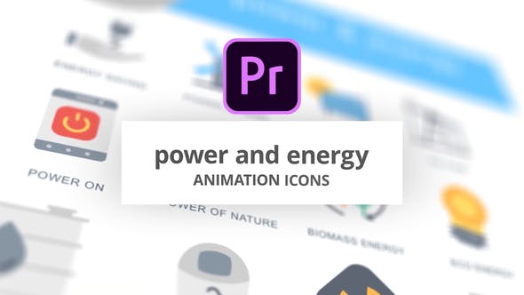 Power and Energy - Animation Icons (MOGRT)