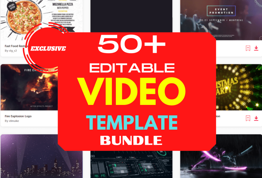 50+ Editable Video template Bundle 2021