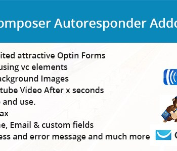 Visual Composer Autoresponder Addon Cheap Price with licence