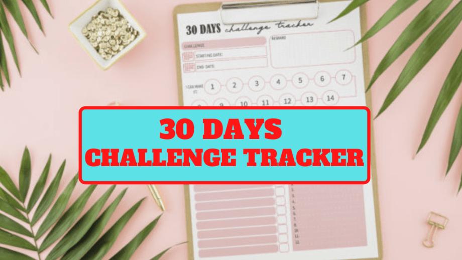 30 DAYS CHALLENGE TRACKER KDP INTERIOR READY FOR UPLOAD