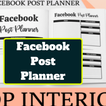 Facebook Post Planner For KDP