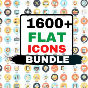 1600+ Flat Icon Mega Bundle Very Cheap Price