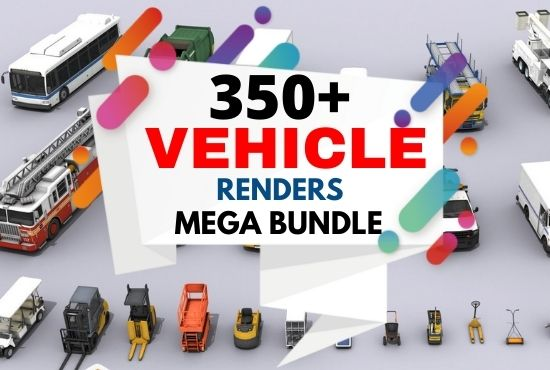 350+ Vehicle renders mega bundle Cheap Price