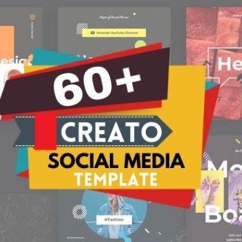 60+ Creato Social Media Templates Bundle Cheap Price