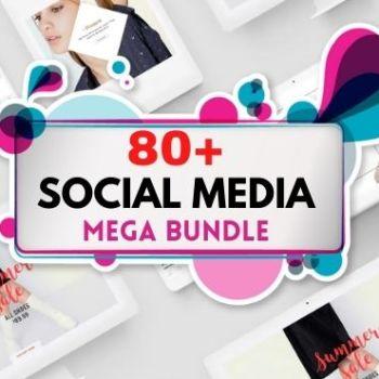 80+ Social Media MEGA Bundle Bundle Cheap Price