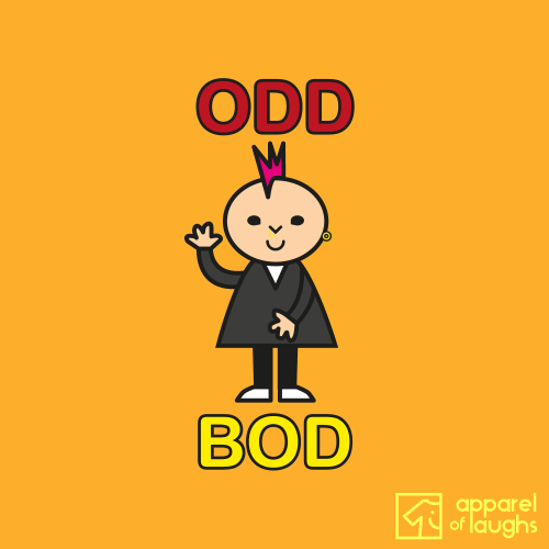 Odd Bod T-Shirt Design Gold