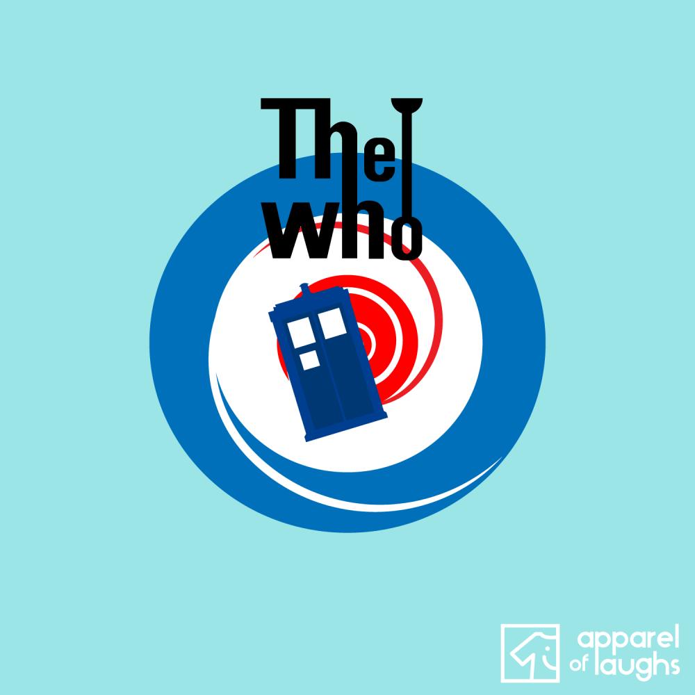 The Doctor Who T-Shirt Design Light Blue