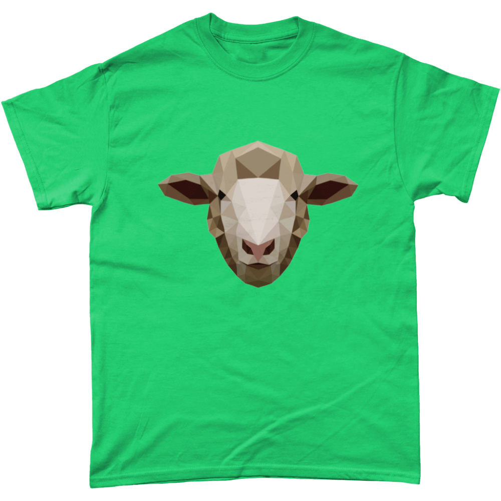 Low Poly Sheep T-Shirt Design Antique Jade