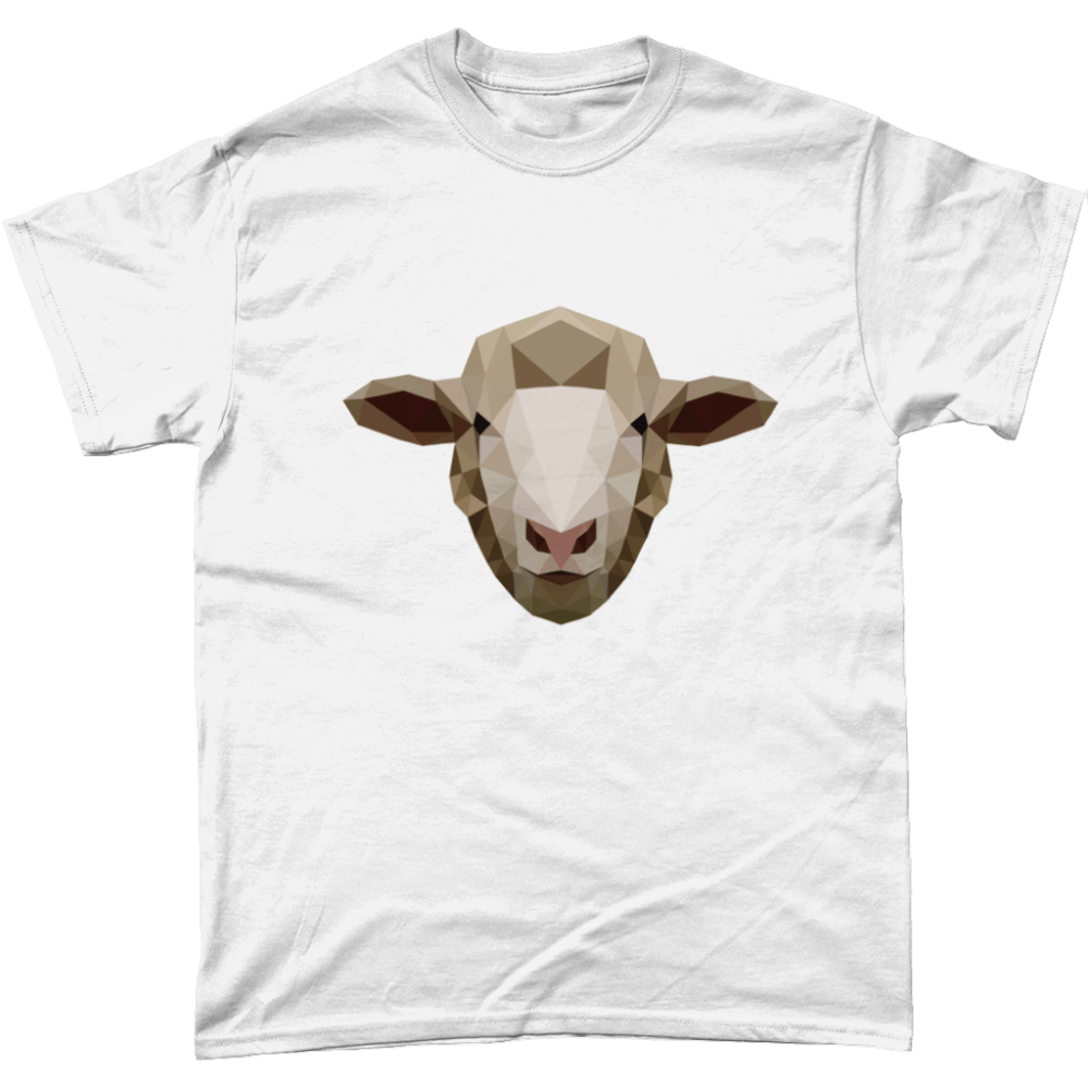 Low Poly Sheep T-Shirt Design White