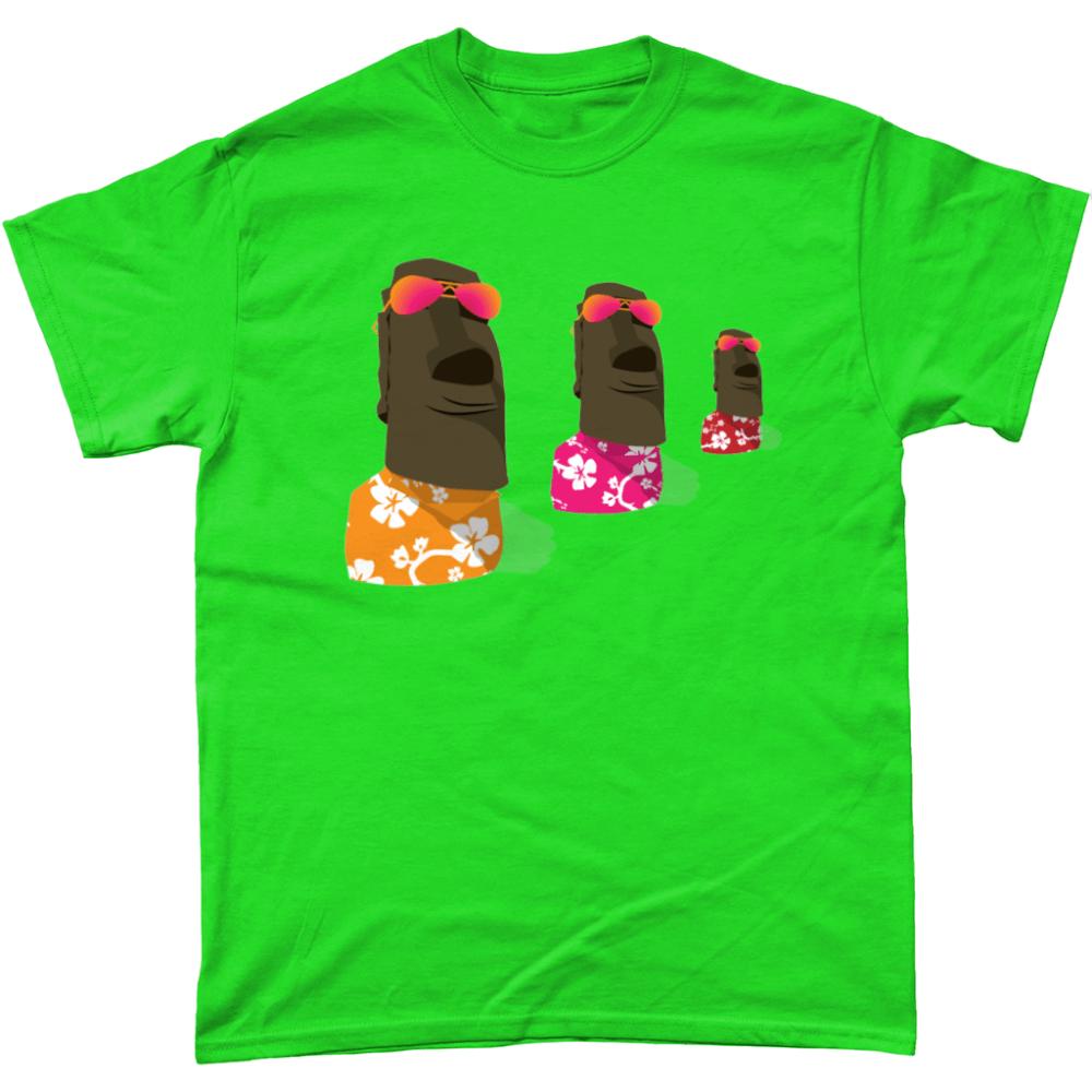 Easter Island Chill T Shirt Design Antique Irish Green