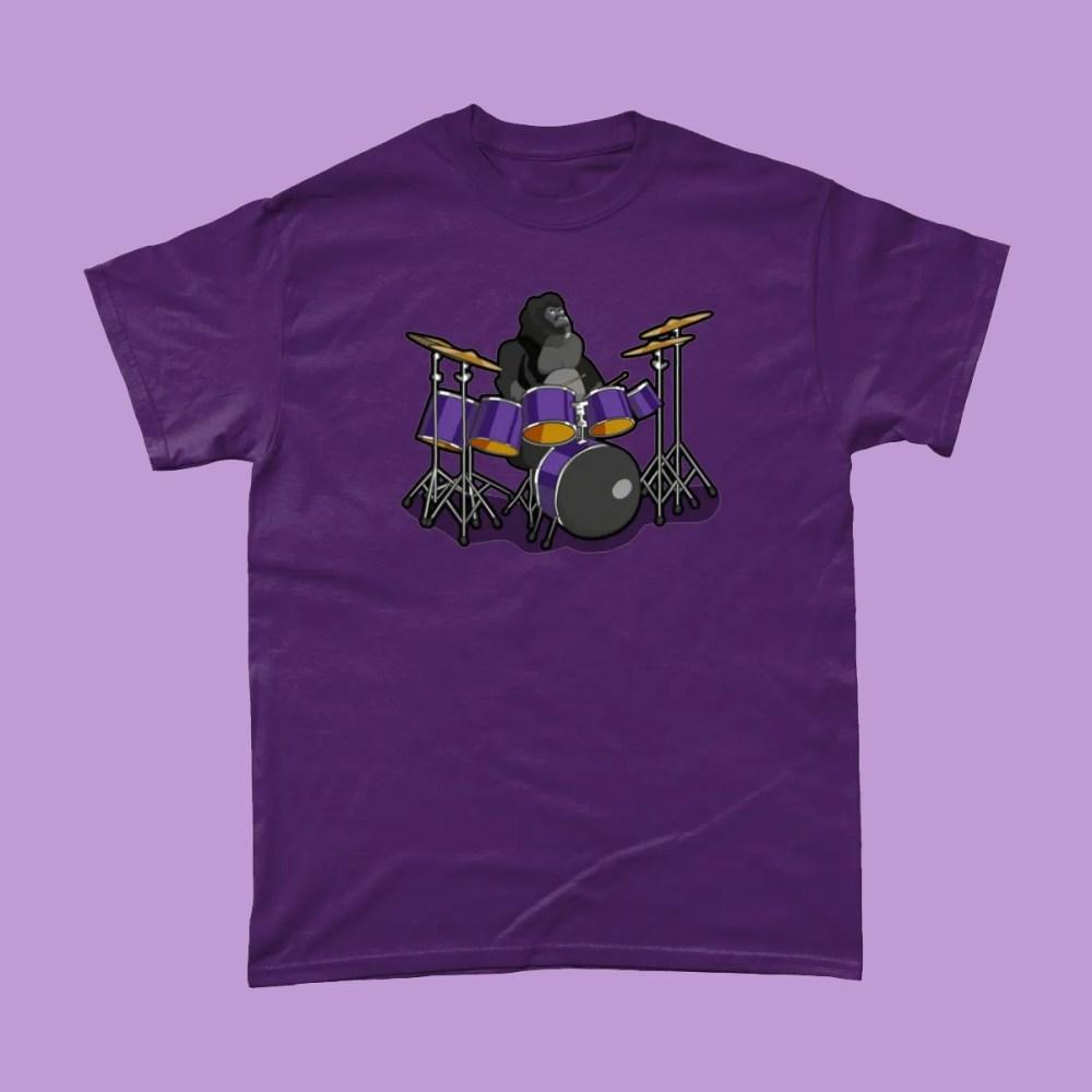 Cadbury Gorilla Advert Drums T Shirt