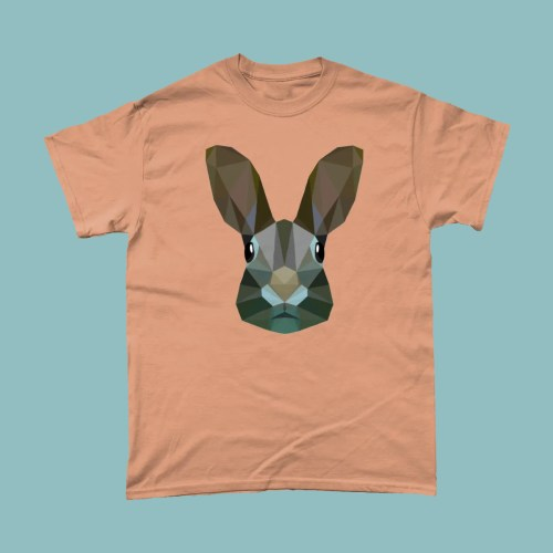 Low Poly Rabbit Mens T Shirt