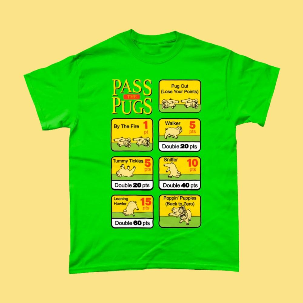Pass the Pugs Pigs Dog T Shirt