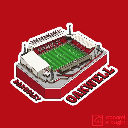 Barnsley Football Stadium Oakwell T Shirt Design Red