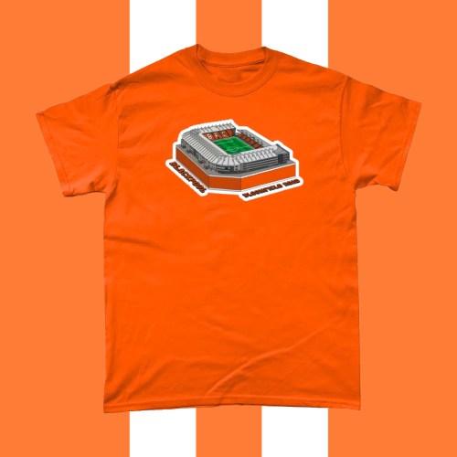 Blackpool Bloomfield Road Football Stadium T Shirt