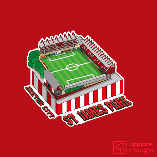 Exeter City Football Stadium St James Park T Shirt Design Red