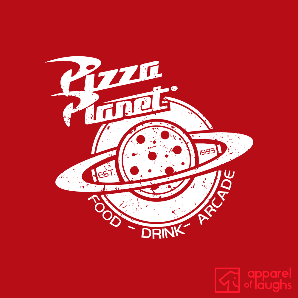 Pizza Planet Toy Story T Shirt Design Red