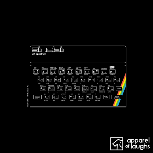ZX Spectrum T Shirt Design Black