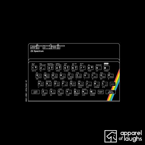 ZX Spectrum T Shirt Design Black