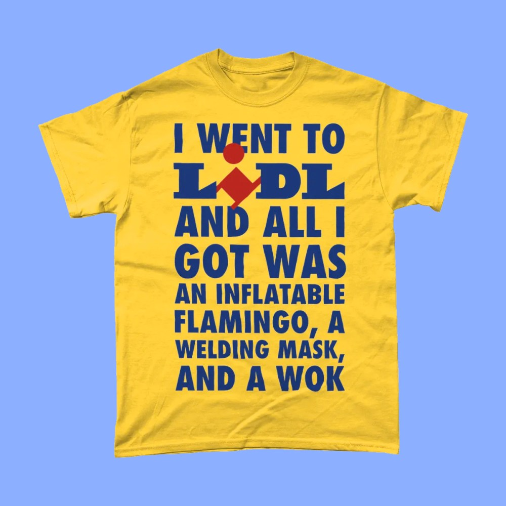 Lidl Middle Aisle Slogan T Shirt