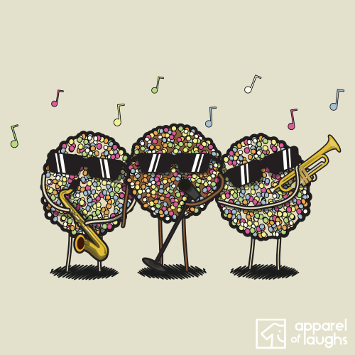 Jazzies Band Music T Shirt Design Natural