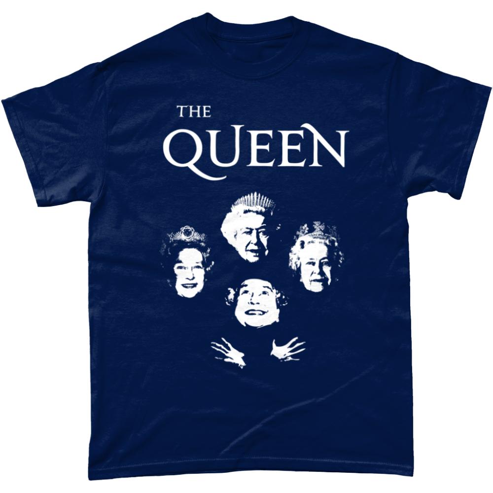 Bohemian Royalty Queen Elizabeth T Shirt Navy
