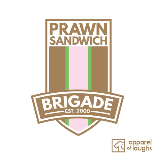 Prawn Sandwich Brigade Football Culture T Shirt Design