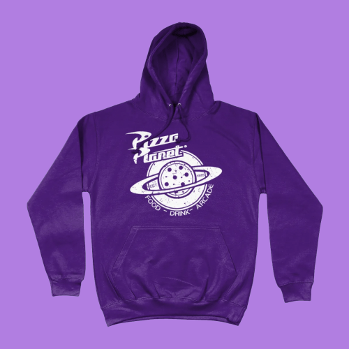 Pizza Planet Toy Story Disney Pixar Hoodie Purple