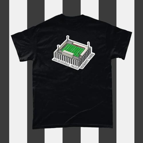 Grimbsy Town Blundell Park Football Stadium Illustration Men's T-Shirt Black