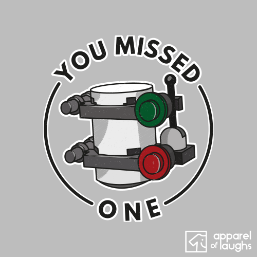 You Missed One Lego Games Minikit T Shirt Design Sports Grey