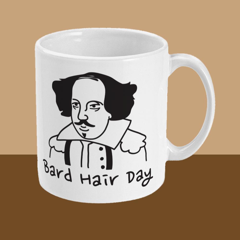 Bard Hair Day William Shakespeare Mug Right