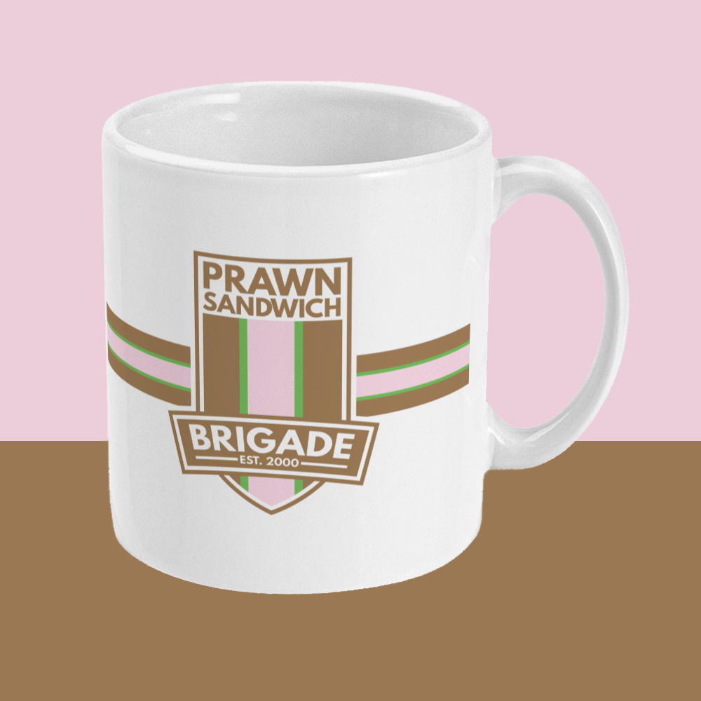 Prawn Sandwich Brigade Football Crest Mug Right