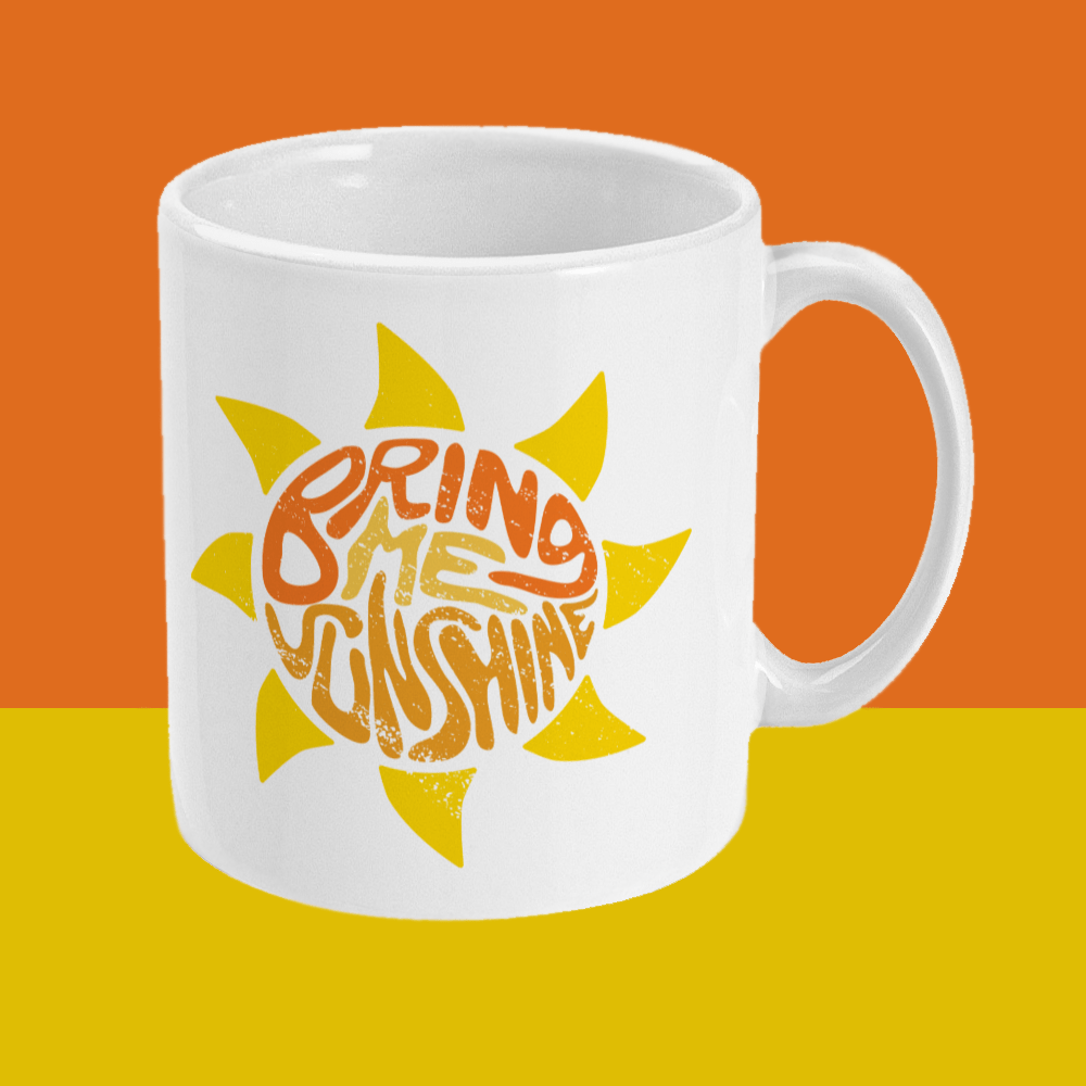 Bring Me Sunshine Morecambe and Wise Comedy Mug Right