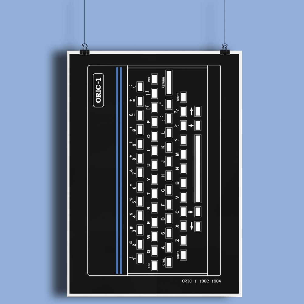 Oric 1 Retro Computer Hardware Fine Art Print A3